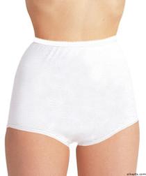 Silvert's 180000104 Womens Cotton Panties For Elderly Seniors, Size Large, WHITE