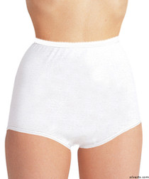 Silvert's 180010106 Womens Cotton Panties For Elderly Seniors, Size 2X-Large, WHITE