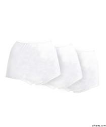 Silvert's 180410102 Womens Cotton Panties For Elderly Seniors, Size 3X-Large, 3-PACK