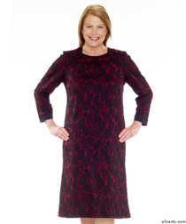 Silvert's 201000302 Adaptive Warm Open Back Wheelchair Dress , Size Medium, WINE