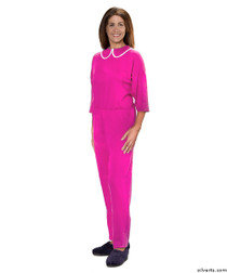 Silvert's 233300102 Womens Adaptive Alzheimers Clothing Anti Strip Suit Jumpsuit , Size Small, BERRY