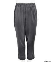 Silvert's 233800101 Womens Stretch Knit Adaptive Wheelchair Users Pant , Size Small, CHARCOAL