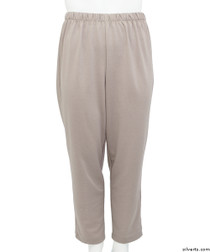 Silvert's 233800401 Womens Stretch Knit Adaptive Wheelchair Users Pant , Size Small, TAUPE