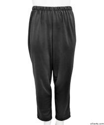 Silvert's 233800202 Womens Stretch Knit Adaptive Wheelchair Users Pant , Size Medium, BLACK