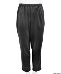 Silvert's 233800203 Womens Stretch Knit Adaptive Wheelchair Users Pant , Size Large, BLACK