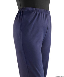 Silvert's 233800303 Womens Stretch Knit Adaptive Wheelchair Users Pant , Size Large, NAVY