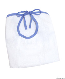 Silvert's 301300101 Adult Terry Cloth Bib , Size ONE, WHITE