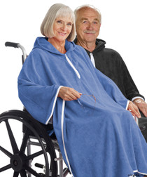 Silvert's 302000901 Terry Shower Cape  , Size ONE, RICH BLUE