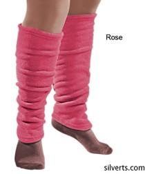 Silvert's 302600702 Women's Cozy Leg Warmers & Ankle Warmers , Size Small, ROSE