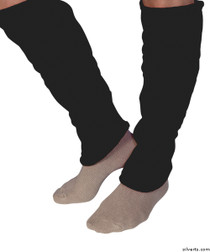 Silvert's 302600303 Women's Cozy Leg Warmers & Ankle Warmers , Size Medium, BLACK