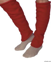 Silvert's 302600104 Women's Cozy Leg Warmers & Ankle Warmers , Size Large, RED