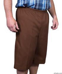 Silvert's 500400401 Mens Adaptive Shorts , Size X-Small, BROWN