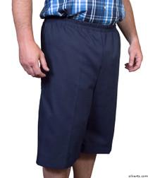 Silvert's 500400202 Mens Adaptive Shorts , Size Small, NAVY