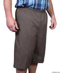 Silvert's 500400102 Mens Adaptive Shorts , Size Small, CHARCOAL