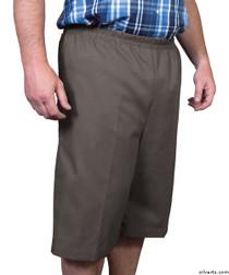Silvert's 500400104 Mens Adaptive Shorts , Size Large, CHARCOAL