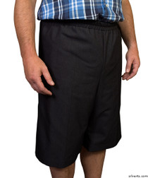 Silvert's 500400304 Mens Adaptive Shorts , Size Large, BLACK