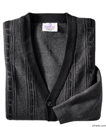 Silvert's 503700302 Cardigan Sweater For Men With Pockets , Size Medium, CHARCOAL