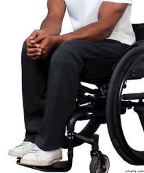 Silvert's 509400202 Fleece Adaptive Wheelchair Pants For Men , Size Small, BLACK
