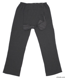 Silvert's 509400302 Fleece Adaptive Wheelchair Pants For Men , Size Small, GREY MIX