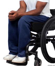 Silvert's 509400104 Fleece Adaptive Wheelchair Pants For Men , Size Large, NAVY