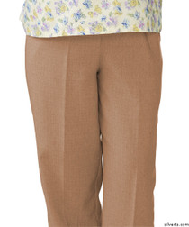 Silvert's 232200401 Womens Adaptive Open Back Wheelchair Pants , Size Small, CAMEL