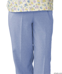 Silvert's 232200101 Womens Adaptive Open Back Wheelchair Pants , Size Small, CHAMBRAY