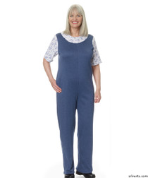 Silvert's 233200202 Womens Adaptive Alzheimer's Clothing Antistrip Suits Pajamas , Size Small, DENIM