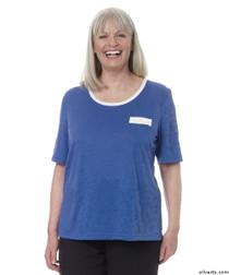 Silvert's 236600304 Womens Adaptive Crew Neck Tshirt , Size X-Large, COBALT