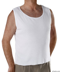 Silvert's 280250102 Mens Adaptive Clothing , Size Small, WHITE