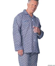 Silvert's 500900102 Cotton Pyjamas For Senior Men, Size Small, ASSORTED PRINTS