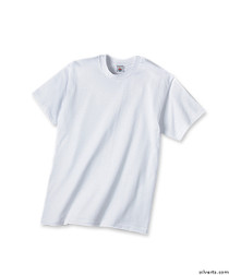 Silvert's 502800102 Mens Traditional Tshirt, Size Small, WHITE