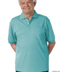 Silvert's 504300202 Mens Regular Knit Polo Shirt, Short Sleeve, Size Medium, POWDER