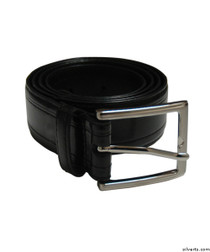 Silvert's 508500103 Men's Assorted Leather Belts, Size 32, BLACK