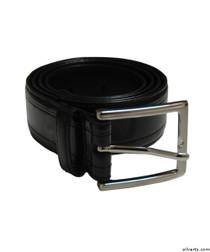 Silvert's 508500104 Men's Assorted Leather Belts, Size 34, BLACK