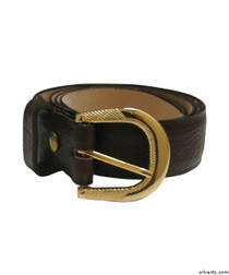 Silvert's 508500204 Men's Assorted Leather Belts, Size 34, BROWN