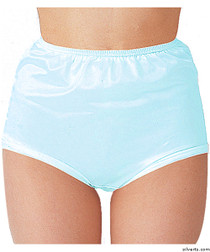 Silvert's 180300504 Womens Nylon Briefs , Size Large, BLUE