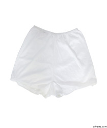 Silvert's 19520103 Womens Flare Leg Bloomers, Size Large, WHITE