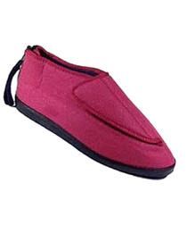 Silvert's 103000111 Adjustable Ezi Fit Slipper For Women, Size 10, BLACK
