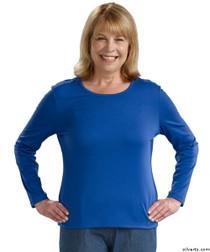 Silvert's 132200102 Womens Regular Crew Neck TShirt Top , Size Medium, COBALT