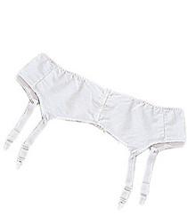 Silvert's 185000112 Womens Garter Belt, Size 26, WHITE