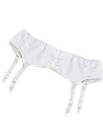 Silvert's 185000108 Womens Garter Belt, Size 42, WHITE