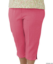 Silvert's 233400302 Womens Adaptive Capri Pants , Size Medium, CORAL