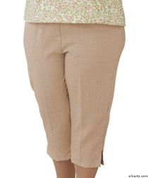 Silvert's 233400402 Womens Adaptive Capri Pants , Size Medium, CAMEL