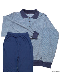 Silvert's 500000103 Mens Regular Lightweight Active Set Polo style top & Two, Size Large, ASSORTED PRINTS