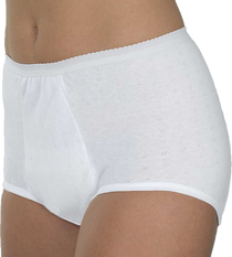Wearever HDL200-WHITE-SM-3PK Women's Maximum Absorbency Washable panties, 3 PACK