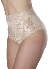 Wearever L109-IVORY-LG-3PK Women's Lace Incontinence Panties 3 PACK