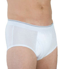 Wearever HDM100-WHITE-MED Men's Moderate Incontinence Briefs