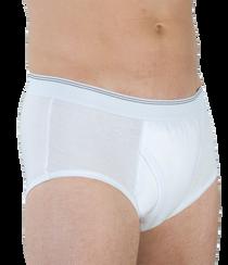 Wearever HDM200-WHITE-MED-3PK Men's Incontinence Boxer Briefs, 3 Pack