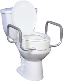 Drive 12403 Rizer, Elongated Toilet with Removal Arms,1/cs, Retail