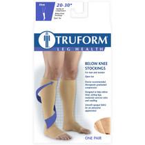 TRUFORM 0865WH Compression 20-30 mmHg Below-knee, Open-toe, white S-M-L-XL (0865WH)